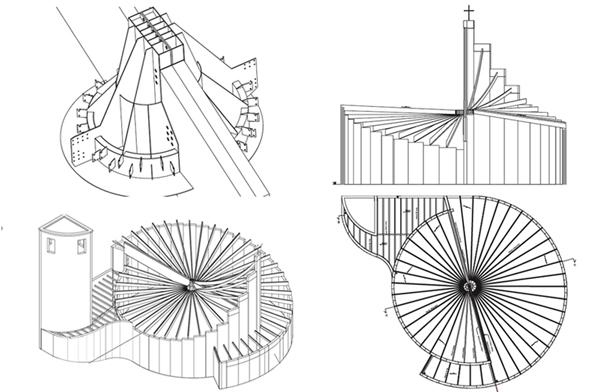 Copertura in legno lamellare chiesa cristo risorto rodengo saiano - Elementi architettonici di una chiesa ...